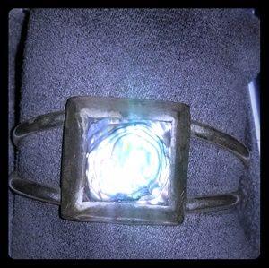 Beautiful silver and abalone taxaco bracelet